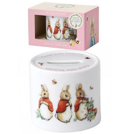 Peter Rabbit Nurseryware Flopsy Mopsy and Cottontail Money Box