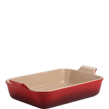 Rectangular Deep Dish 26cm Red