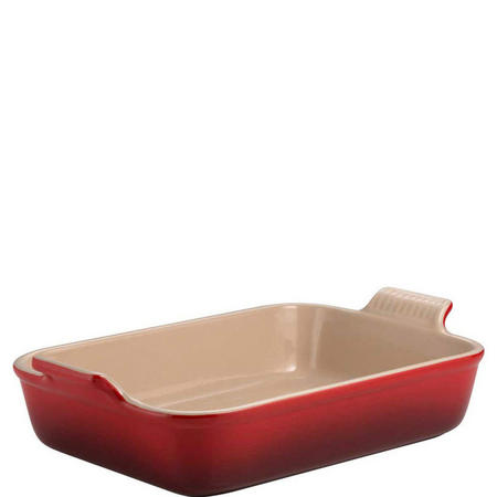 Rectangular Deep Dish 32cm Red