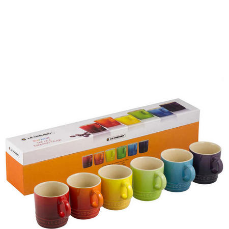 Rainbow Espresso Mugs Multi