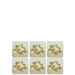 Antique Roses Set of 6 Coasters