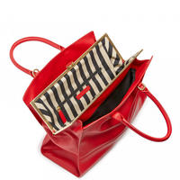 Mid Smooth Leather Daphne Handbag Red