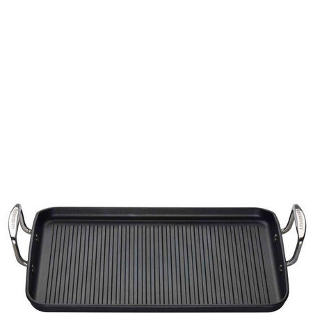 Ribbed Rectangular Grill 35cm Black