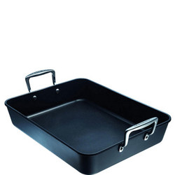 Toughened Rectangular Roaster 35cm Black