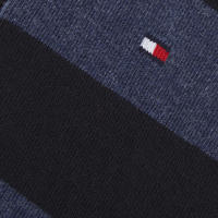 Two-Pack Rugby Stripe Socks Navy