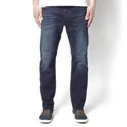 Waykee Tapered Leg Jeans Dark Blue