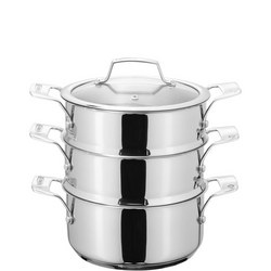 3 Tier Steamer Set Stainless Steel 22 Cm