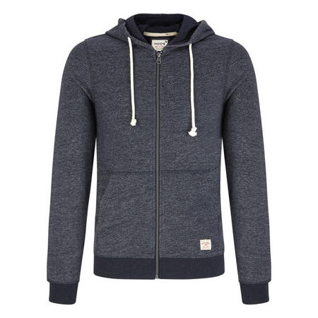 Recycled Zipped Hoody Navy