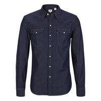 Barstow Western Shirt Dark Blue