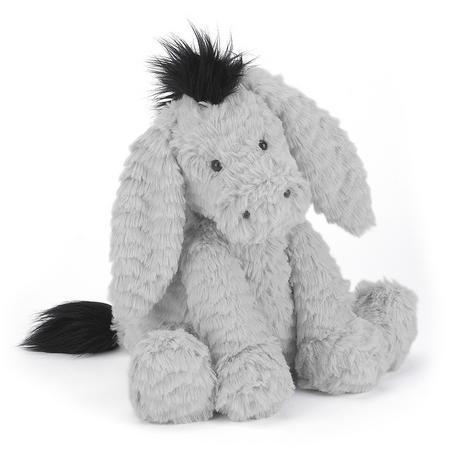 Fuddlewuddle Donkey 23cm Grey