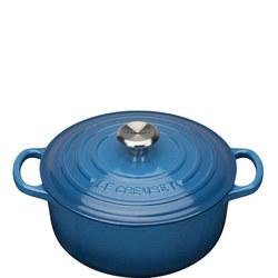 Round Casserole Dark Blue