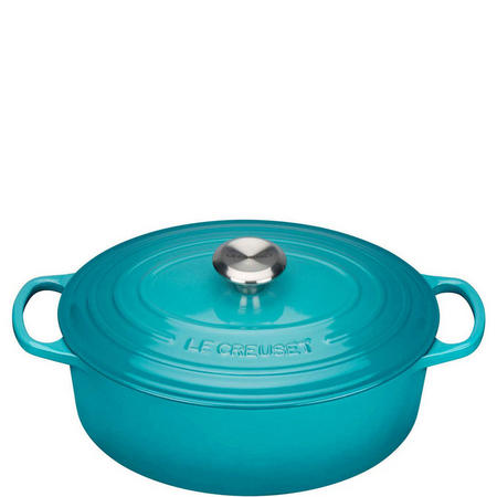 Oval Casserole 27cm Light Green