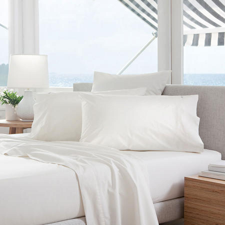 Classic Percale - 300tc Oxford Pillowcase Snow