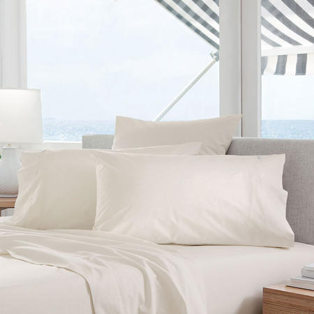 Classic Percale - 300tc Square Pillowcase Chalk