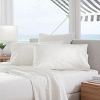 Classic Percale - 300tc Standard Pillowcase Snow