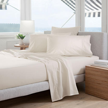 Classic Percale - 300tc Flat Sheet Chalk