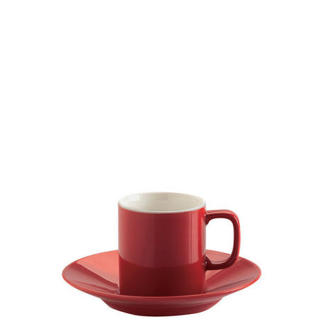 Red Espresso Cup And Saucer