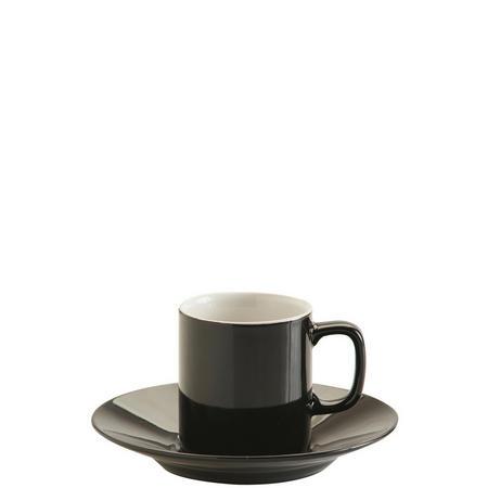 Black Espresso Cup And Saucer