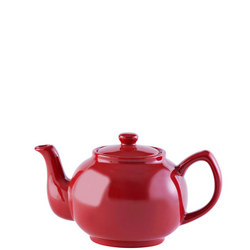 Red Teapot For 6