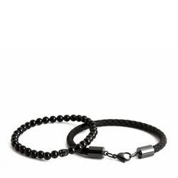Double Bead Bracelet Black