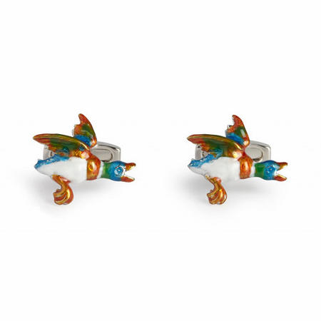 Flying Duck Cufflink Multicolour