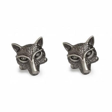 Fox Face Cufflink Silver