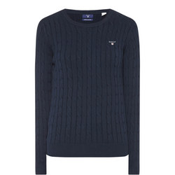 Cable Knit Sweater Navy
