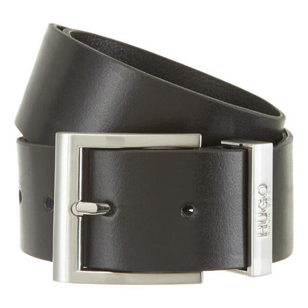 Leather Square Pin Buckle Belt