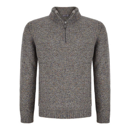 Half Zip Cashmere Jumper Grey