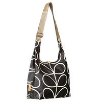 Midi Sling Crossbody Bag Black/White