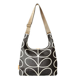 Midi Sling Crossbody Bag Black/White
