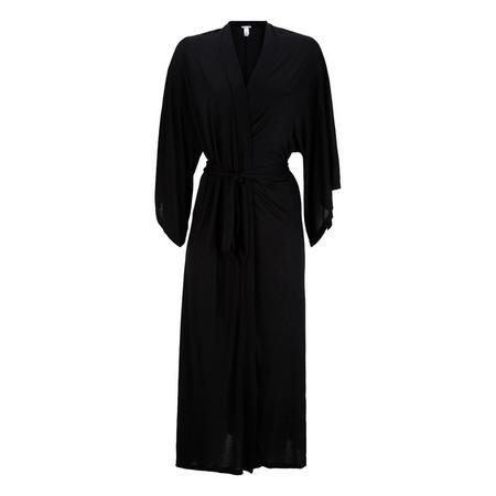 Colette Long Kimono Dressing Gown Black
