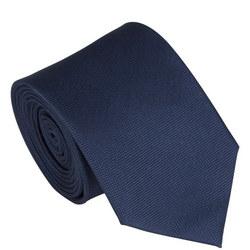 Silk Textured Tie Navy