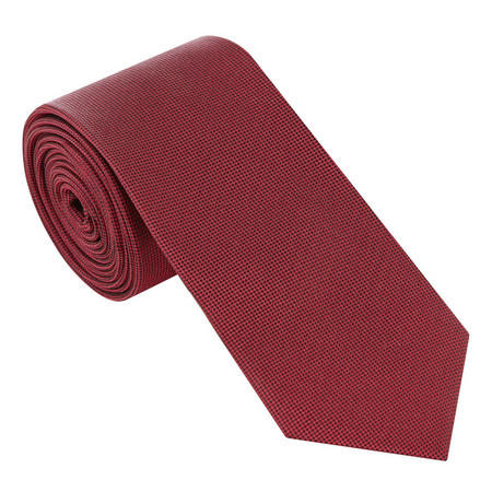 Textured Silk Tie Red