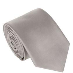 Silk Plain Tie Grey