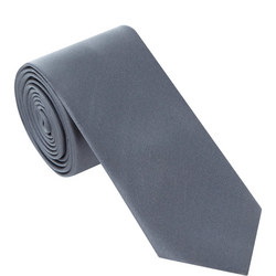 Silk Plain Tie Charcoal