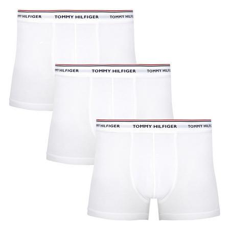 3-Pack Basic Cotton Trunks White