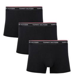 3-Pack Basic Cotton Trunks Black