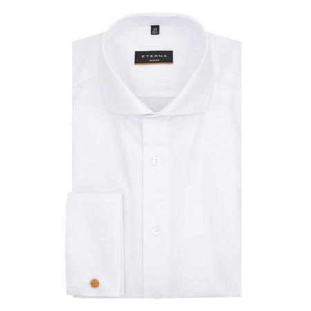 Slim Fit Double Cuff Shirt White