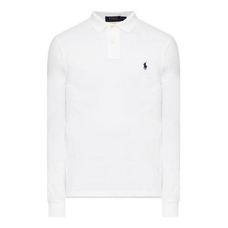 Logo Long Sleeve Slim Polo Shirt