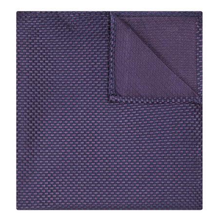 Textured Silk Pocket Square Purple