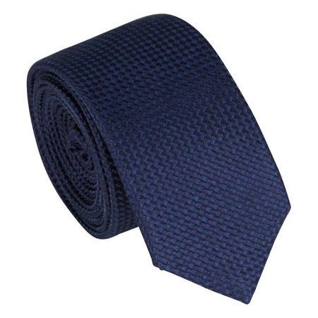 Skinny Silk Textured Tie Navy