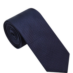 Textured Silk Tie Navy