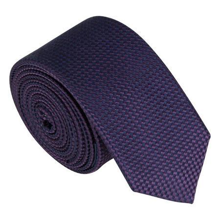 Skinny Silk Textured Tie Purple
