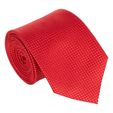 Silk Textured Tie Red