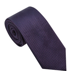 Silk Textured Tie Purple