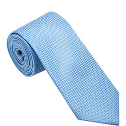Silk Textured Tie Blue