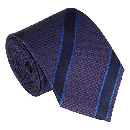 Handmade Silk Striped Tie Purple