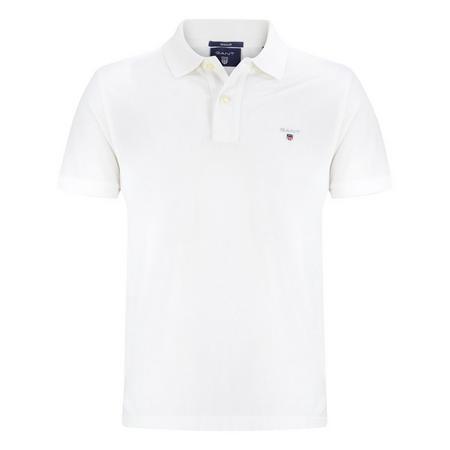 Short Sleeve Pique Polo Shirt White