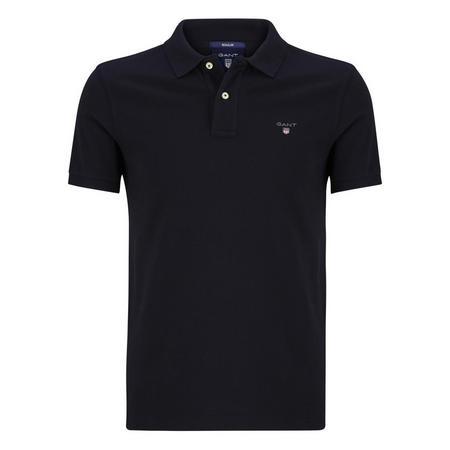 Short Sleeve Pique Polo Shirt Navy